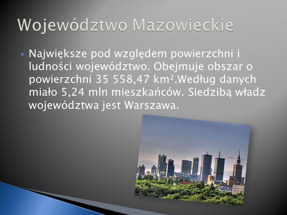Największe pod względem powierzchni i ludności województwo.