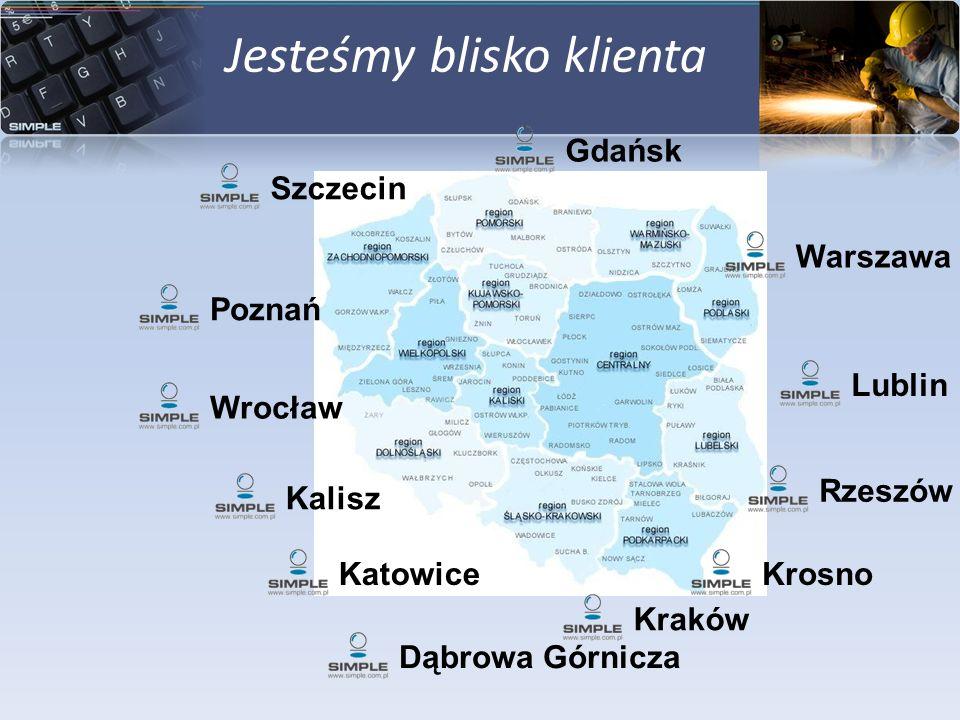Jesteśmy blisko klienta LublinDąbrowa GórniczaKatowiceWarszawaWrocławSzczecinKaliszRzeszówKrosnoPoznańGdańskKraków