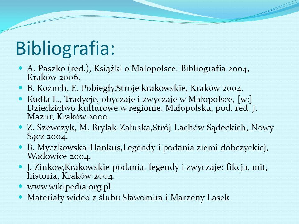 Bibliografia: A.Paszko (red.), Książki o Małopolsce.