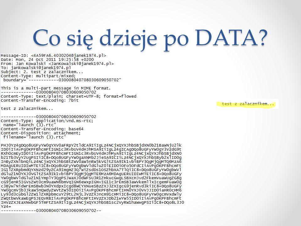 Co się dzieje po DATA?