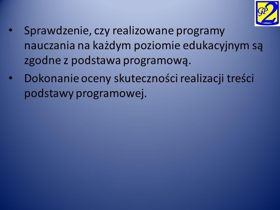 W szkole znajduje się procedura wyboru programu nauczania.