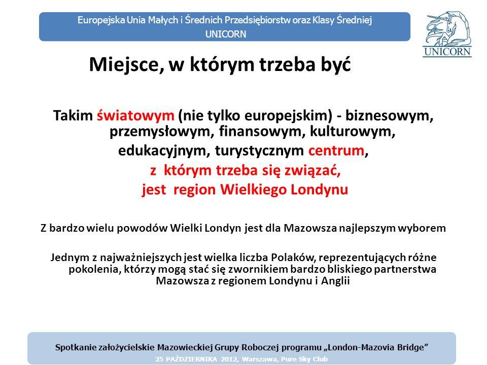 Europejska Unia Małych i Średnich Przedsiębiorstw oraz Klasy Średniej UNICORN Miejsce, w którym trzeba być Takim światowym (nie tylko europejskim) - b