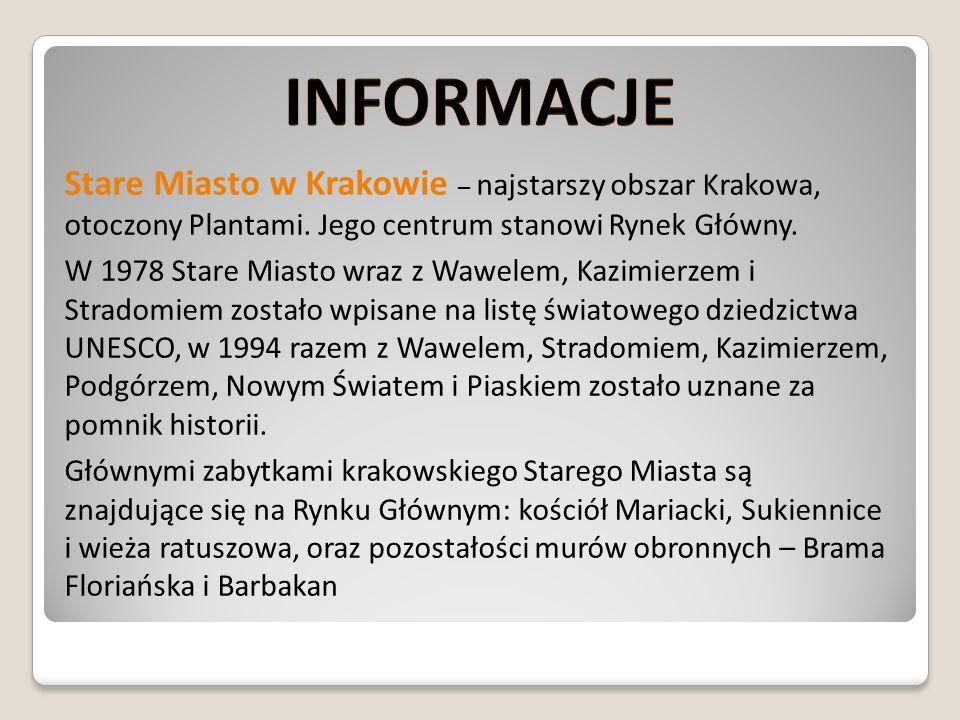 ZABYTKI KRAKOWA Kościół Mariacki -jeden z największych i najważniejszych, po Katedrze Wawelskiej, kościół Krakowa, od 1962 posiada tytuł bazyliki mniejszej.