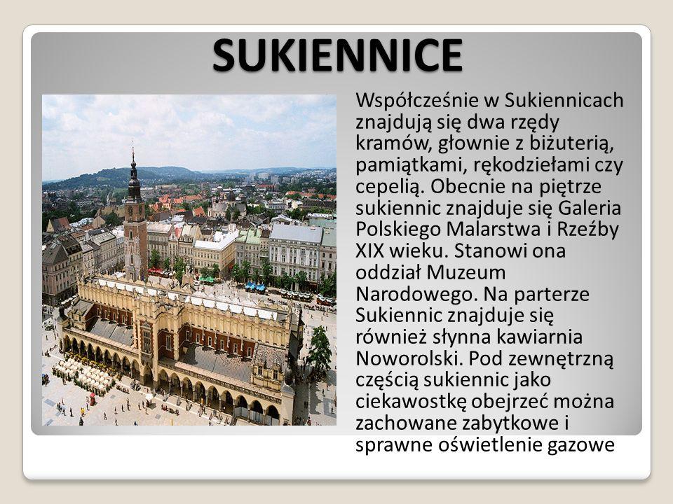 WIEŻA RATUSZOWA Wieża ratuszowa – gotycka wieża z XIV wieku znajdująca się na Rynku Głównym w Krakowie, o wysokości 70 m.