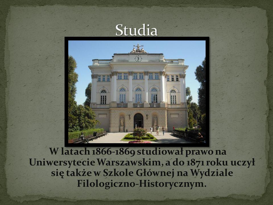 W latach 1872-1887 pracował jako reporter i felietonista, był współwłaścicielem dwutygodnika Niwa, redaktorem dziennika Słowo.