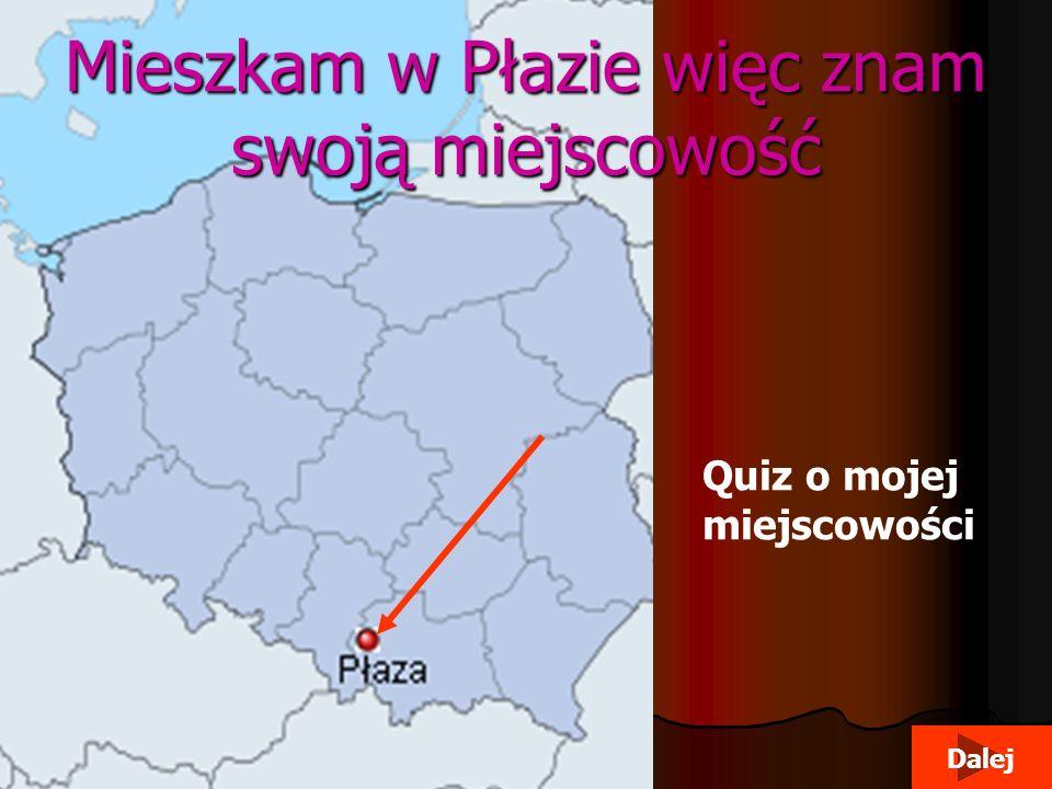 Mieszkam w Płazie więc znam swoją miejscowość Quiz o mojej miejscowości Dalej