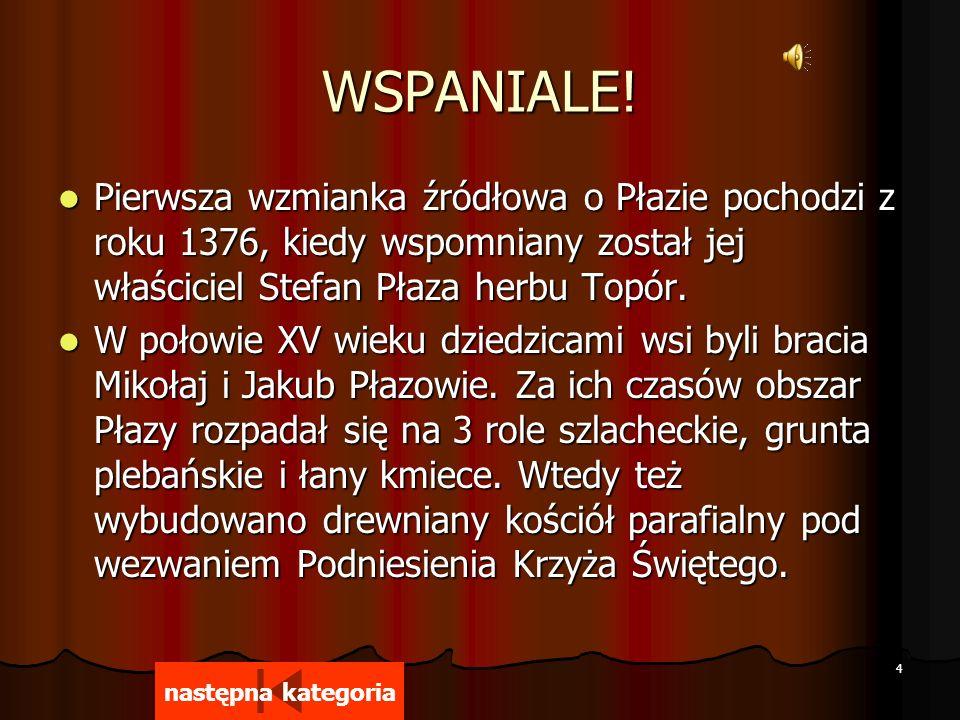 14 Którego roku sięgają początki Szkoły Podstawowej w Płazie.
