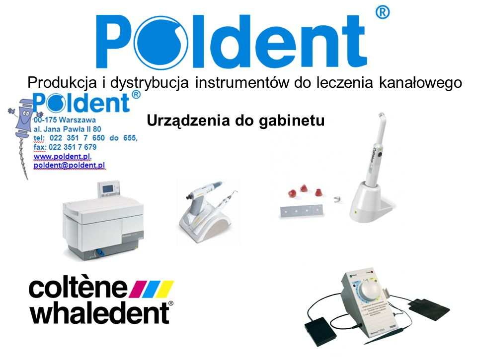 Produkcja i dystrybucja instrumentów do leczenia kanałowego Urządzenia do gabinetu