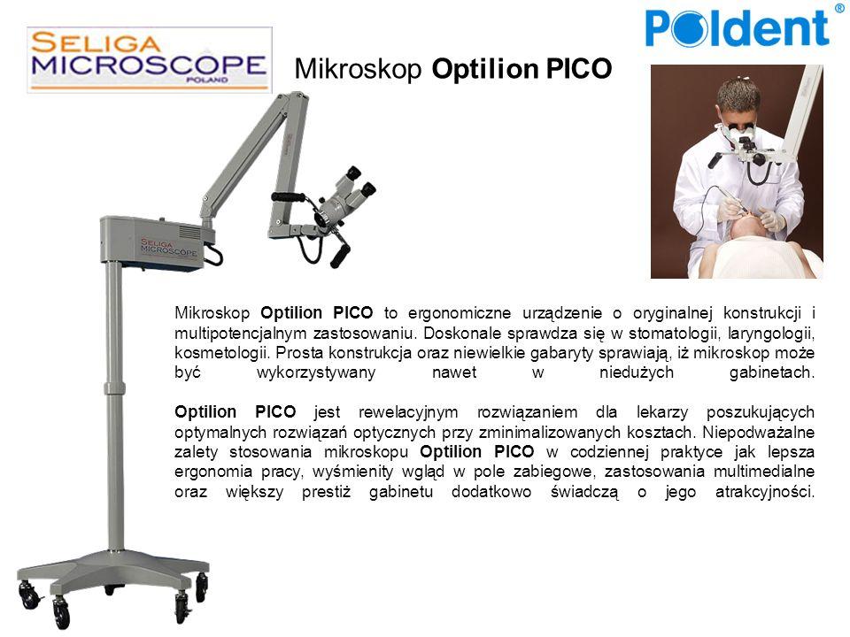 Mikroskop Optilion PICO to ergonomiczne urządzenie o oryginalnej konstrukcji i multipotencjalnym zastosowaniu. Doskonale sprawdza się w stomatologii,
