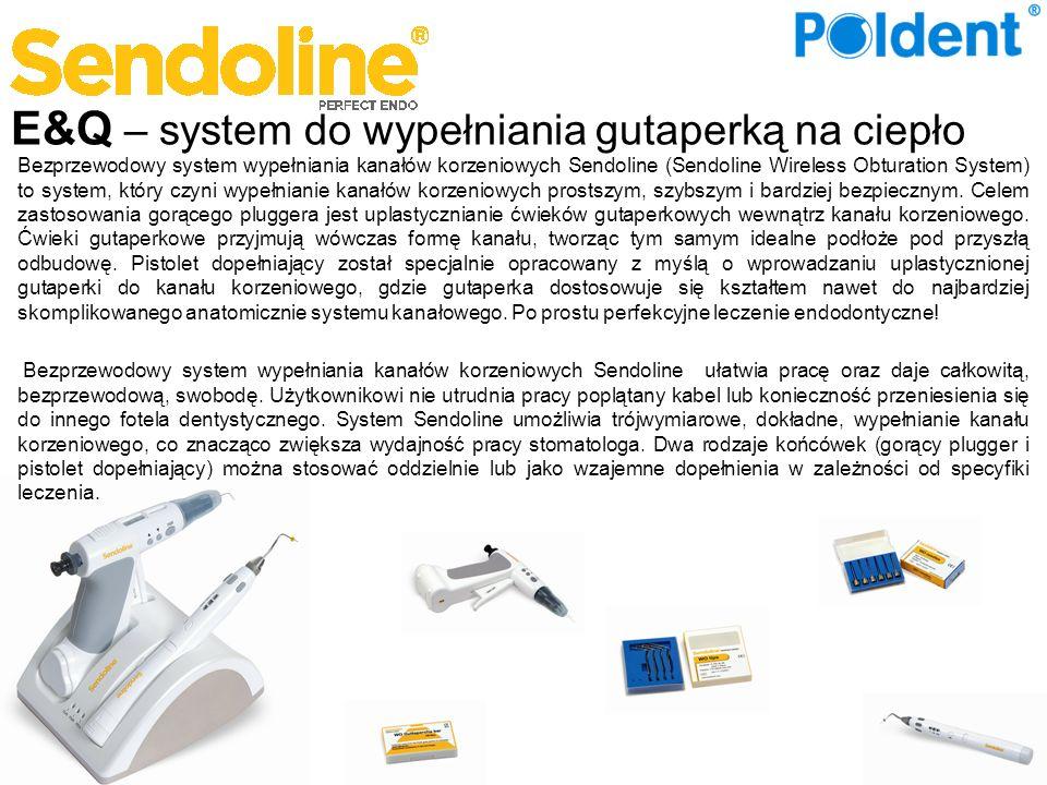E&Q – system do wypełniania gutaperką na ciepło Bezprzewodowy system wypełniania kanałów korzeniowych Sendoline (Sendoline Wireless Obturation System)