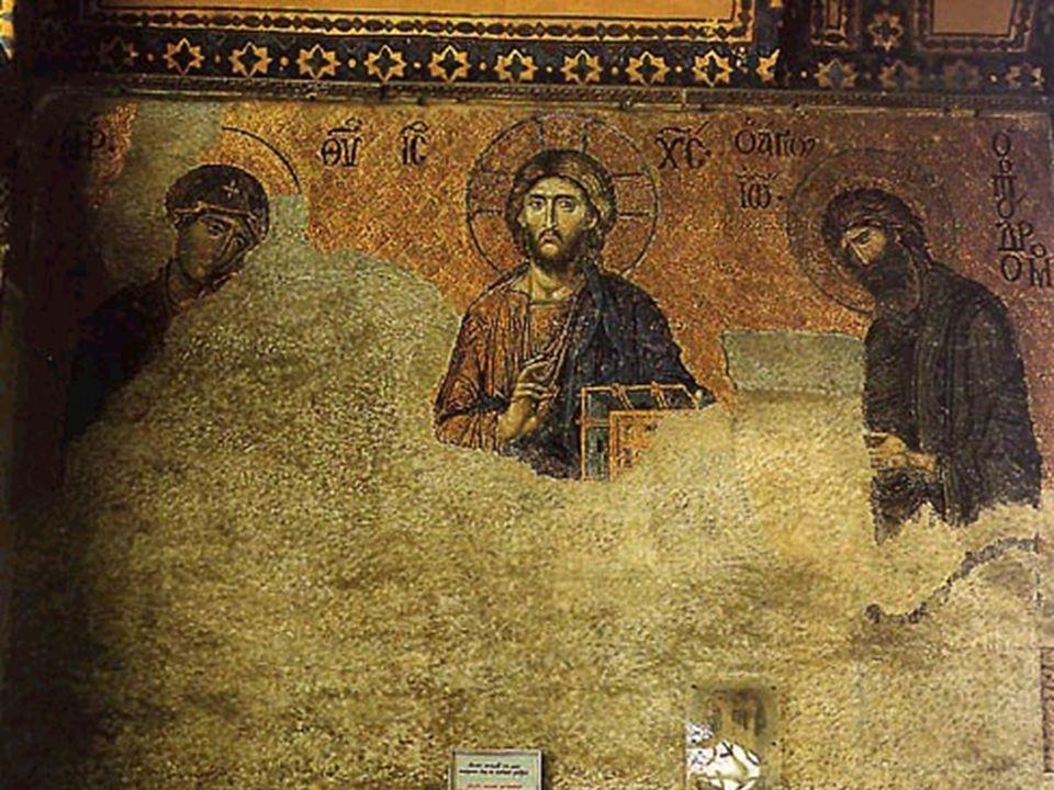 Deesis - mozaika w klasztorze bazylianów w Gottaferrata XI wiek
