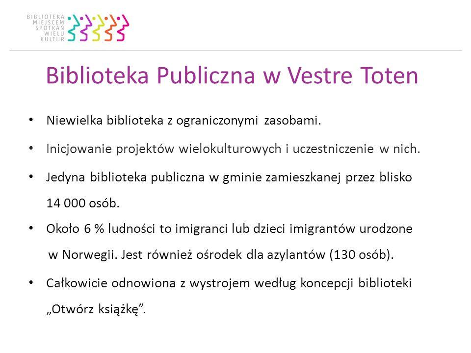 Biblioteka Publiczna w Vestre Toten Niewielka biblioteka z ograniczonymi zasobami.