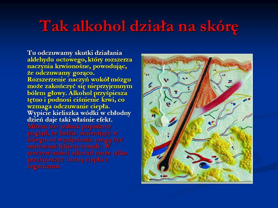 Tak alkohol uszkadza słuch Układ słuchowy odpowiada za poczucie równowagi. Alkohol zmienia gęstość tkanki i płynów w uchu. Im większa ilość wypitego a