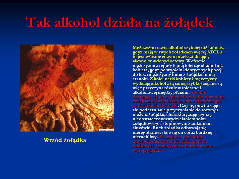 Tak alkohol działa na skórę Tu odczuwamy skutki działania aldehydu octowego, który rozszerza naczynia krwionośne, powodując, że odczuwamy gorąco. Rozs