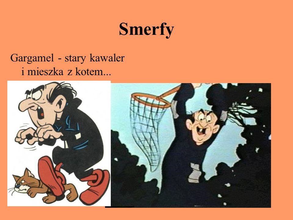 Smerfy Gargamel - stary kawaler i mieszka z kotem...