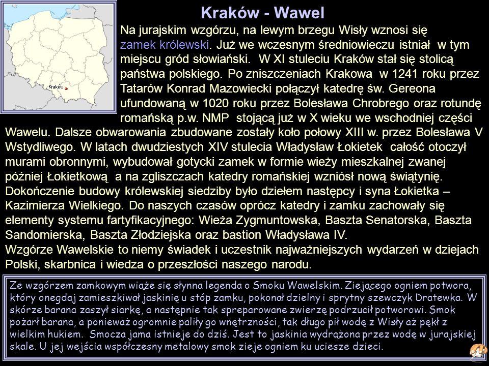 Ze wzgórzem zamkowym wiąże się słynna legenda o Smoku Wawelskim.