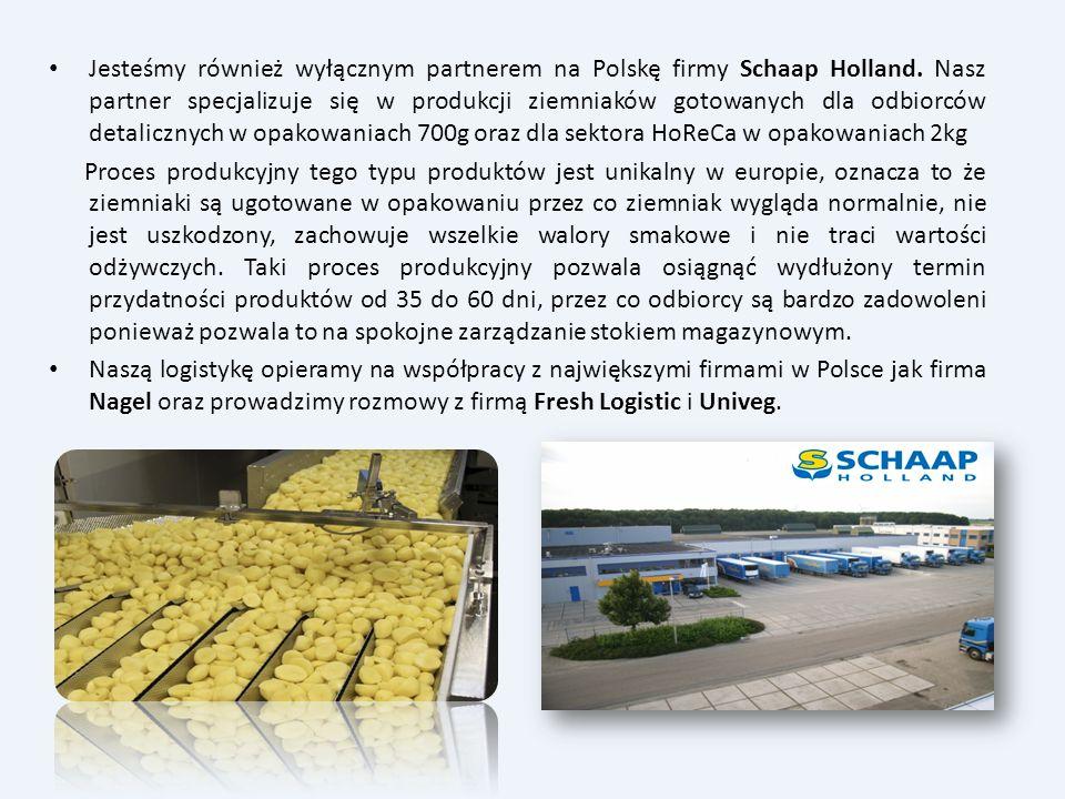Jesteśmy również wyłącznym partnerem na Polskę firmy Schaap Holland. Nasz partner specjalizuje się w produkcji ziemniaków gotowanych dla odbiorców det