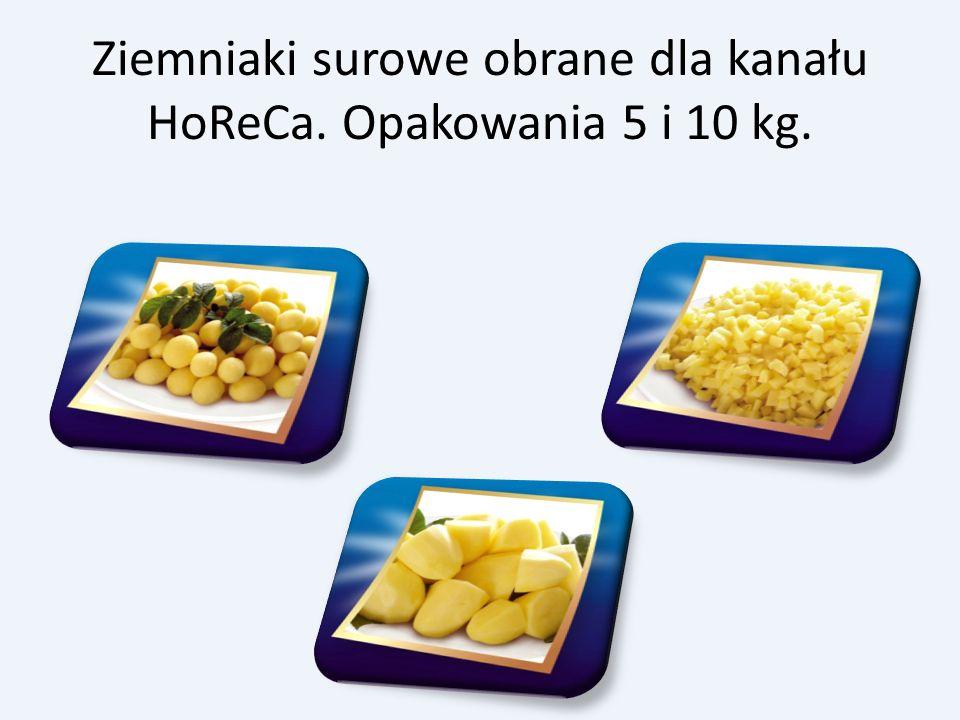 Ziemniaki surowe obrane dla kanału HoReCa. Opakowania 5 i 10 kg.