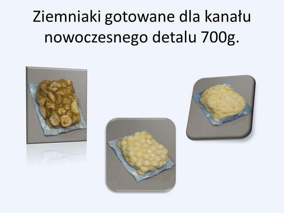 Ziemniaki gotowane dla kanału nowoczesnego detalu 700g.
