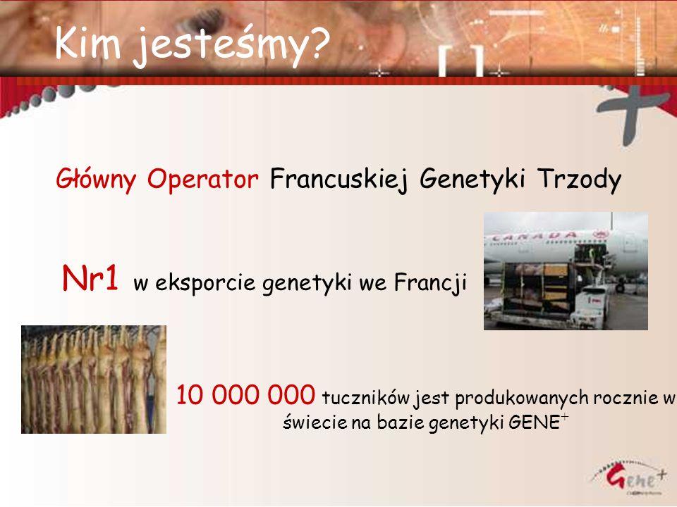 Kim jesteśmy? Główny Operator Francuskiej Genetyki Trzody Nr1 w eksporcie genetyki we Francji 10 000 000 tuczników jest produkowanych rocznie w świeci