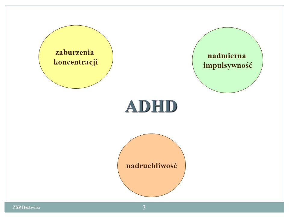 ADHD zaburzenia koncentracji nadmierna impulsywność nadruchliwość ZSP Bestwina 3