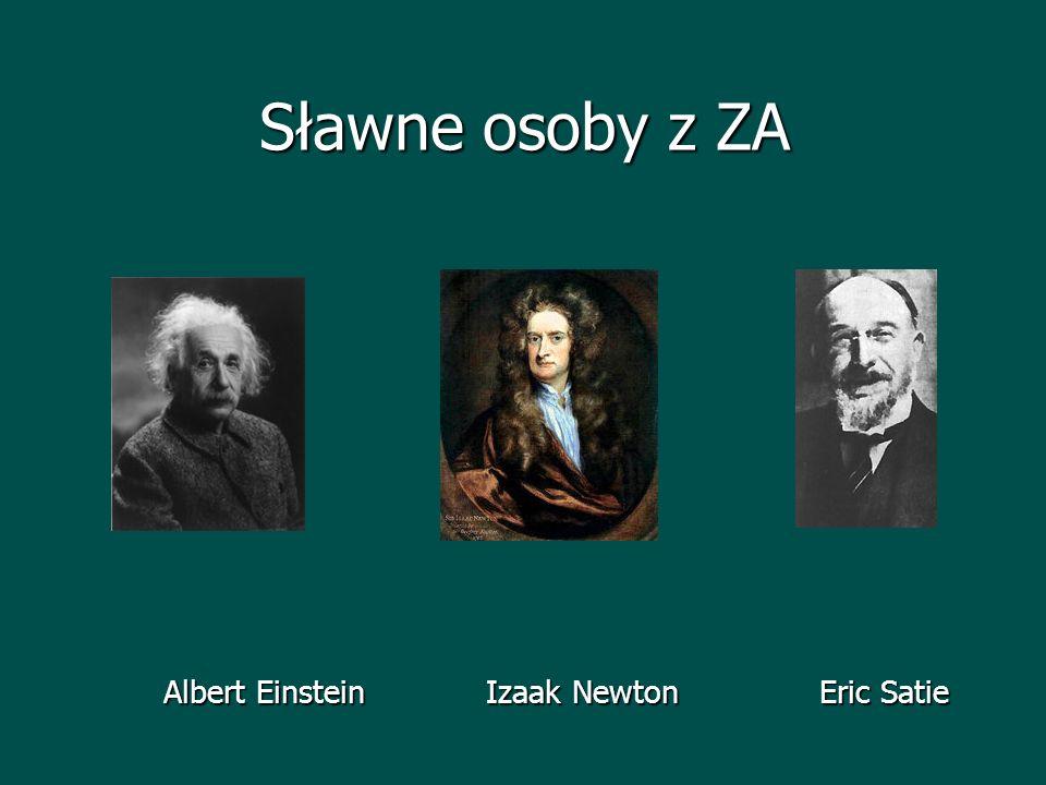 Sławne osoby z ZA Albert Einstein Izaak Newton Eric Satie Albert Einstein Izaak Newton Eric Satie