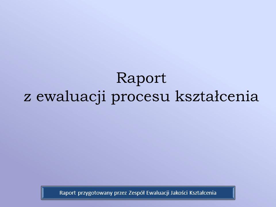 Raport z ewaluacji procesu kształcenia Raport przygotowany przez Zespół Ewaluacji Jakości Kształcenia