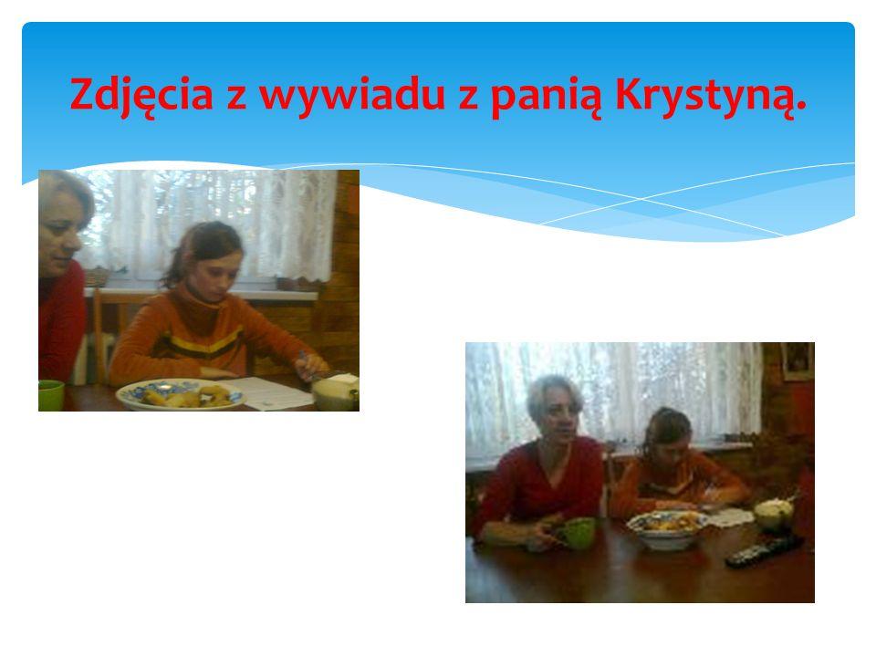 Zdjęcia z wywiadu z panią Krystyną.