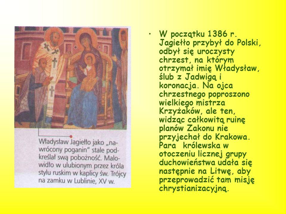 Sprawa przyłączenia Litwy do Polski była niejasna dla obu stron, Jagiełło rozumiał przez przyłączenie ( słowo aplicare w dokumencie krewskim połączeni