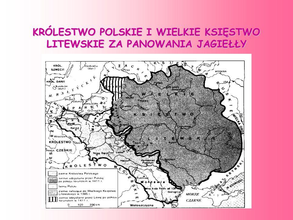 Władysław Jagiełło zapoczątkował rządy nowej dynastii w Polsce-Jagiellonów. Jagiellonowie obejmowali tron litewski prawem dziedzicznym, dlatego Polska