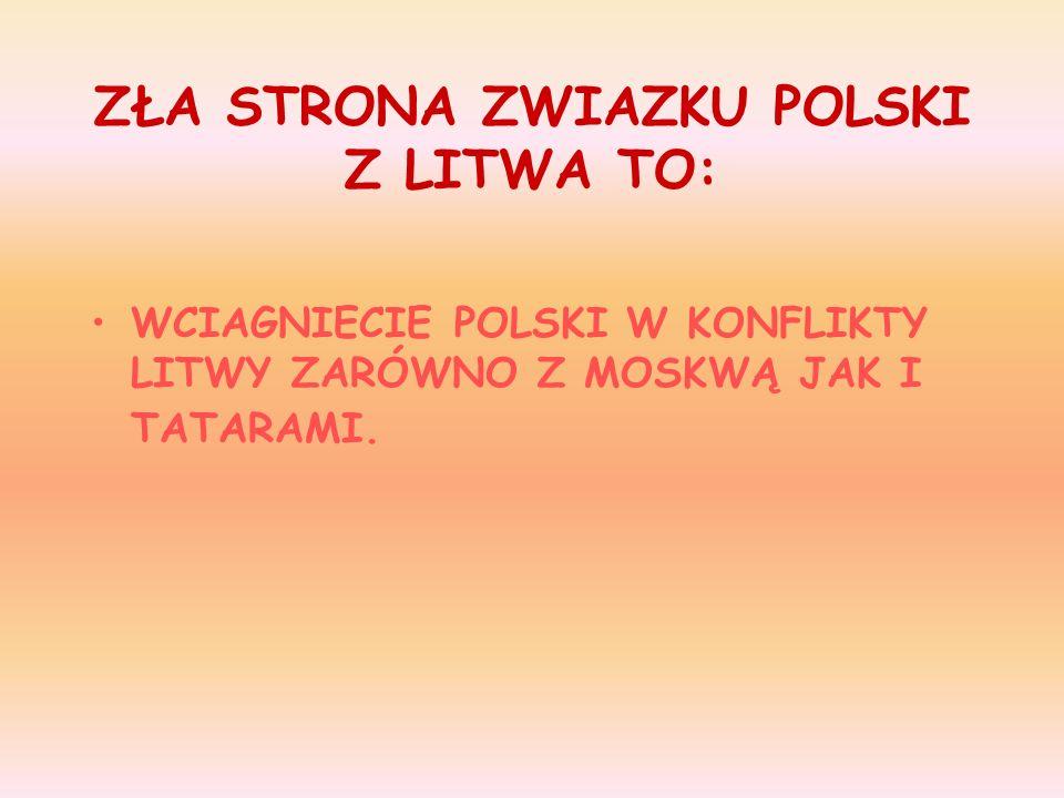 Unia miała zasadnicze znaczenie dla rozwoju kultury na tym terytorium. Polska wchodząc w związek z Litwą, reprezentowała mocno ugruntowana kulturę chr