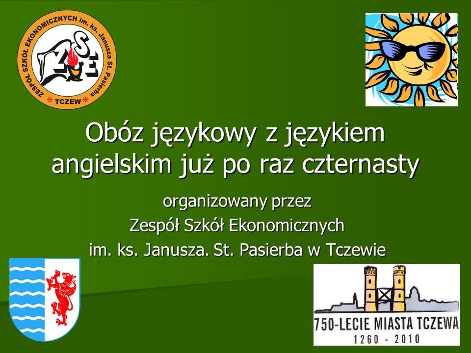 Obóz językowy z językiem angielskim już po raz czternasty organizowany przez Zespół Szkół Ekonomicznych im.