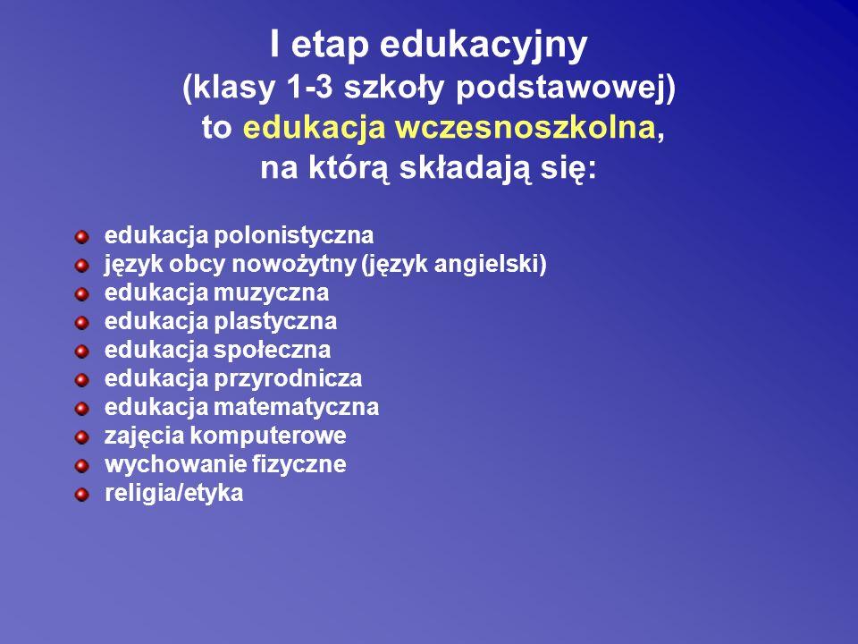 Wymagania szczegółowe po I klasie: