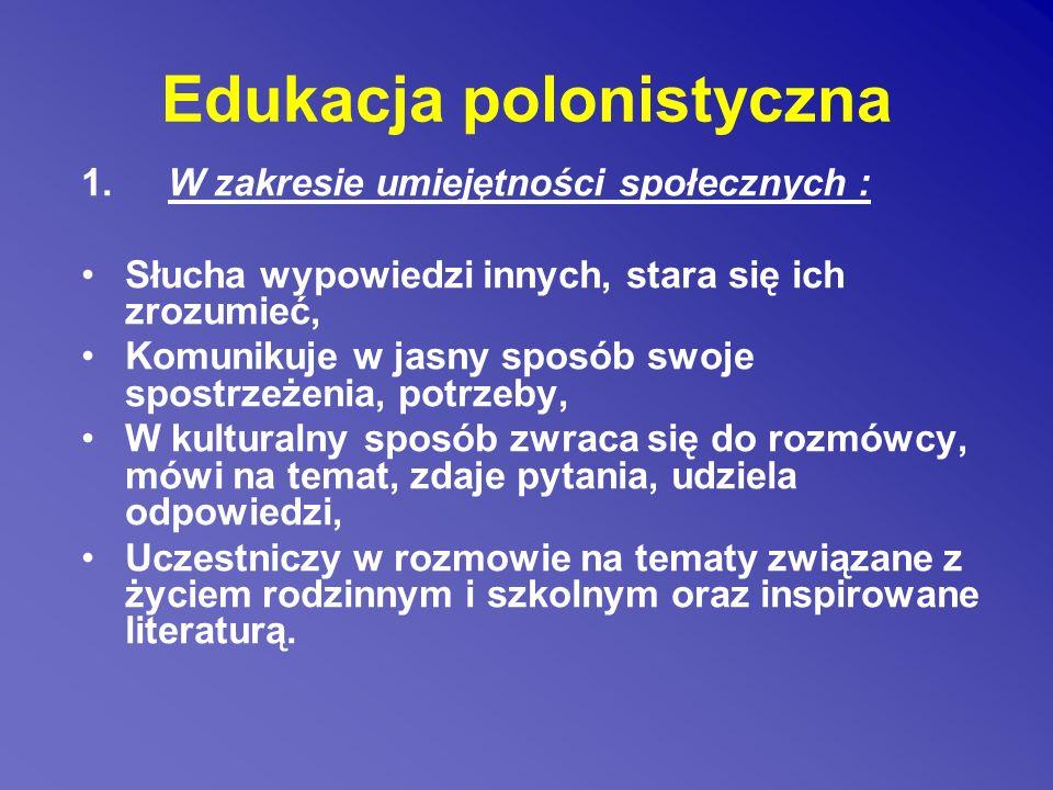 Edukacja polonistyczna 1.