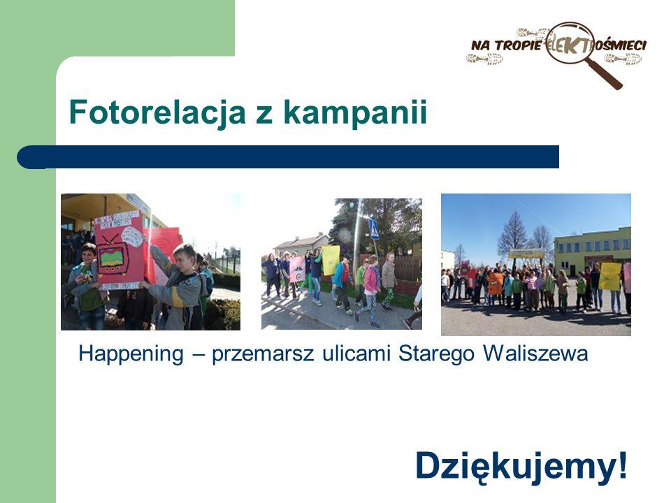 Fotorelacja z kampanii Happening – przemarsz ulicami Starego Waliszewa Dziękujemy!