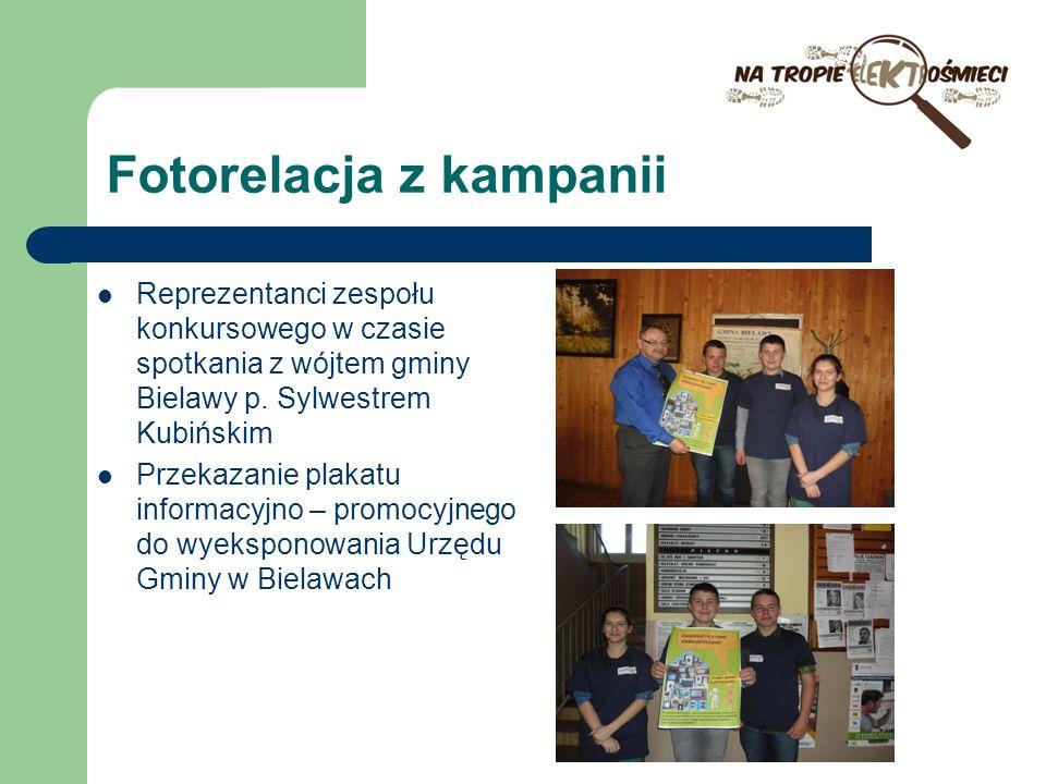 Fotorelacja z kampanii Reprezentanci zespołu konkursowego w czasie spotkania z wójtem gminy Bielawy p. Sylwestrem Kubińskim Przekazanie plakatu inform