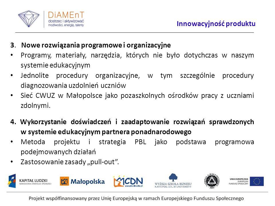 3. Nowe rozwiązania programowe i organizacyjne Programy, materiały, narzędzia, których nie było dotychczas w naszym systemie edukacyjnym Jednolite pro
