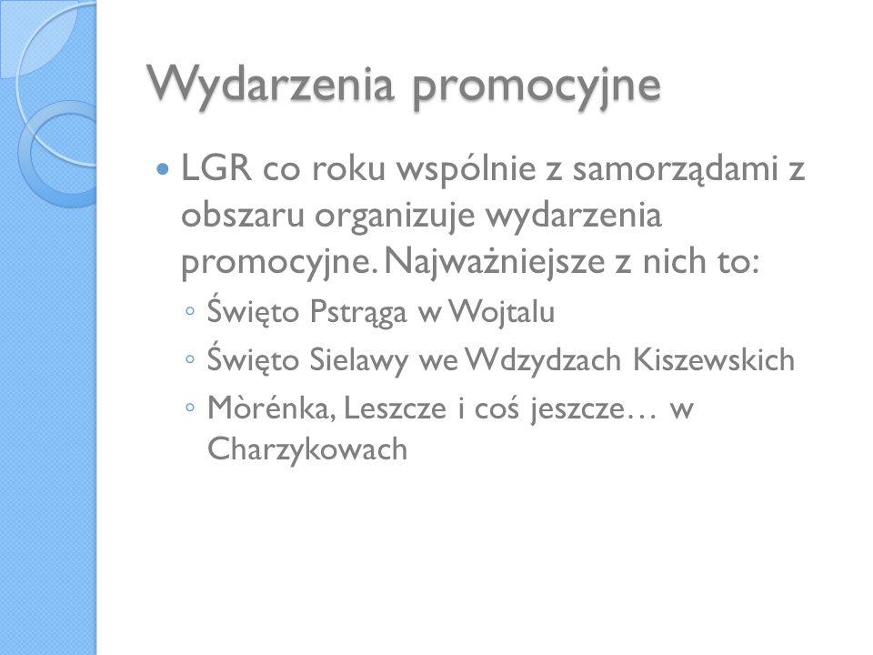 Wydarzenia promocyjne LGR co roku wspólnie z samorządami z obszaru organizuje wydarzenia promocyjne. Najważniejsze z nich to: Święto Pstrąga w Wojtalu