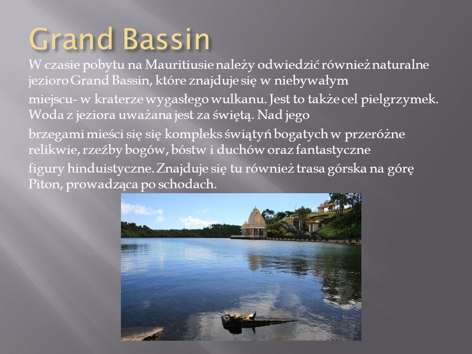 Grand Bassin W czasie pobytu na Mauritiusie należy odwiedzić również naturalne jezioro Grand Bassin, które znajduje się w niebywałym miejscu- w krater