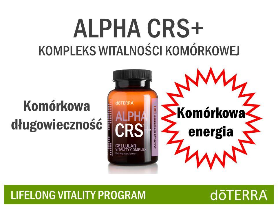 ALPHA CRS+ KOMPLEKS WITALNOŚCI KOMÓRKOWEJ Komórkowa długowieczność Komórkowa energia