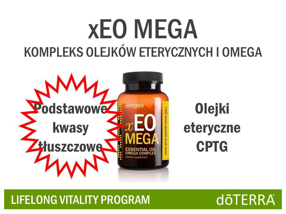 LIFELONG VITALITY PROGRAM Podstawowe kwasy tłuszczowe Olejki eteryczne CPTG xEO MEGA KOMPLEKS OLEJKÓW ETERYCZNYCH I OMEGA