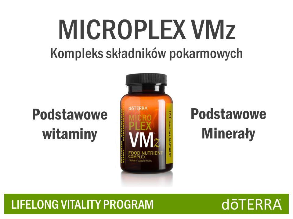 LIFELONG VITALITY PROGRAM Podstawowe witaminy Podstawowe Minerały MICROPLEX VMz Kompleks składników pokarmowych