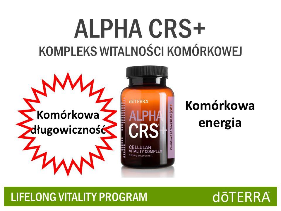 LIFELONG VITALITY PROGRAM ALPHA CRS+ KOMPLEKS WITALNOŚCI KOMÓRKOWEJ Komórkowa długowiczność Komórkowa energia
