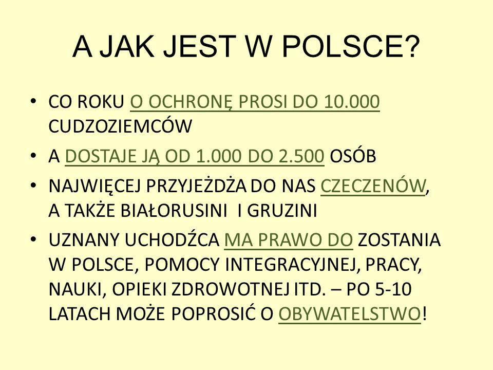 A JAK JEST W POLSCE.