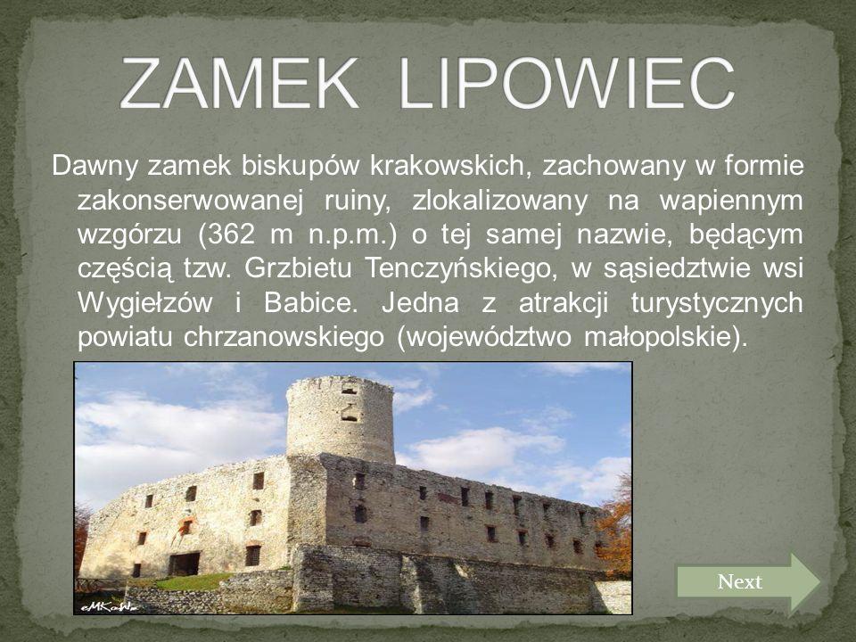 Dawny zamek biskupów krakowskich, zachowany w formie zakonserwowanej ruiny, zlokalizowany na wapiennym wzgórzu (362 m n.p.m.) o tej samej nazwie, będącym częścią tzw.
