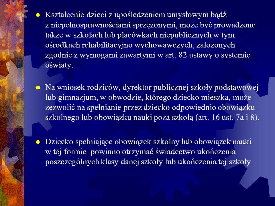 Wyrażając zgodę na taką formę spełniania obowiązku szkolnego lub nauki, dyrektor szkoły macierzystej określa warunki kierując się przepisami ustawy o systemie oświaty (Dz.