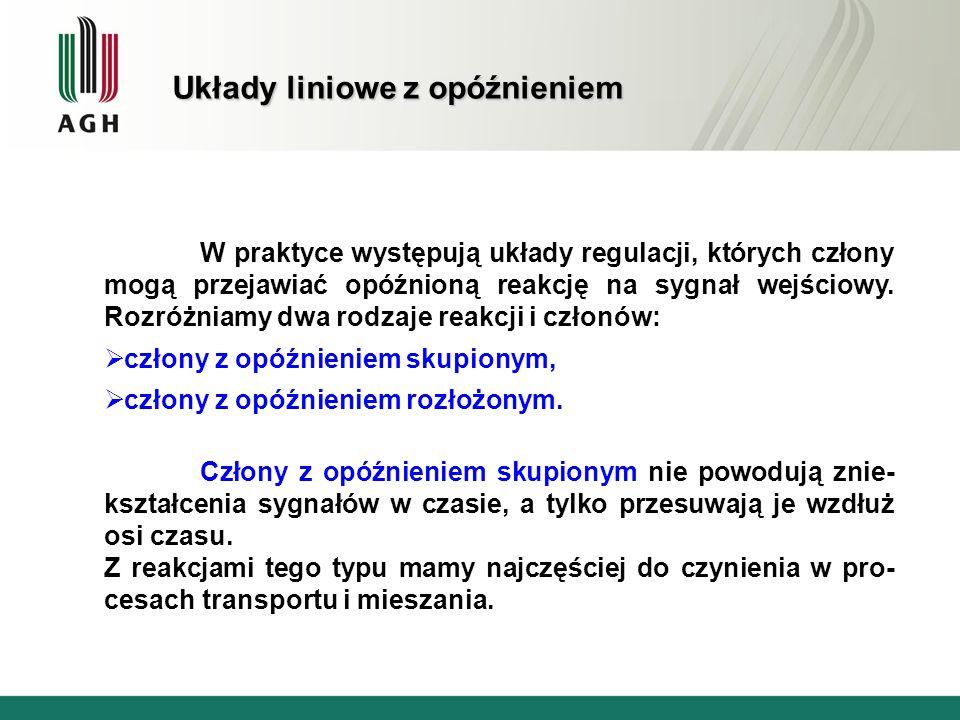 Jako drugi przykład rozważymy fragment układu stabilizacji grubości walcowanego pasma.