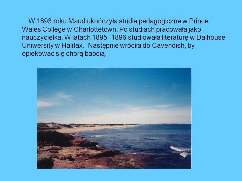 W 1893 roku Maud ukończyła studia pedagogiczne w Prince Wales College w Charlottetown. Po studiach pracowała jako nauczycielka. W latach 1895 -1896 st