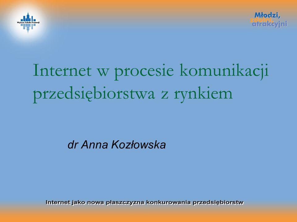 Internet w procesie komunikacji przedsiębiorstwa z rynkiem dr Anna Kozłowska