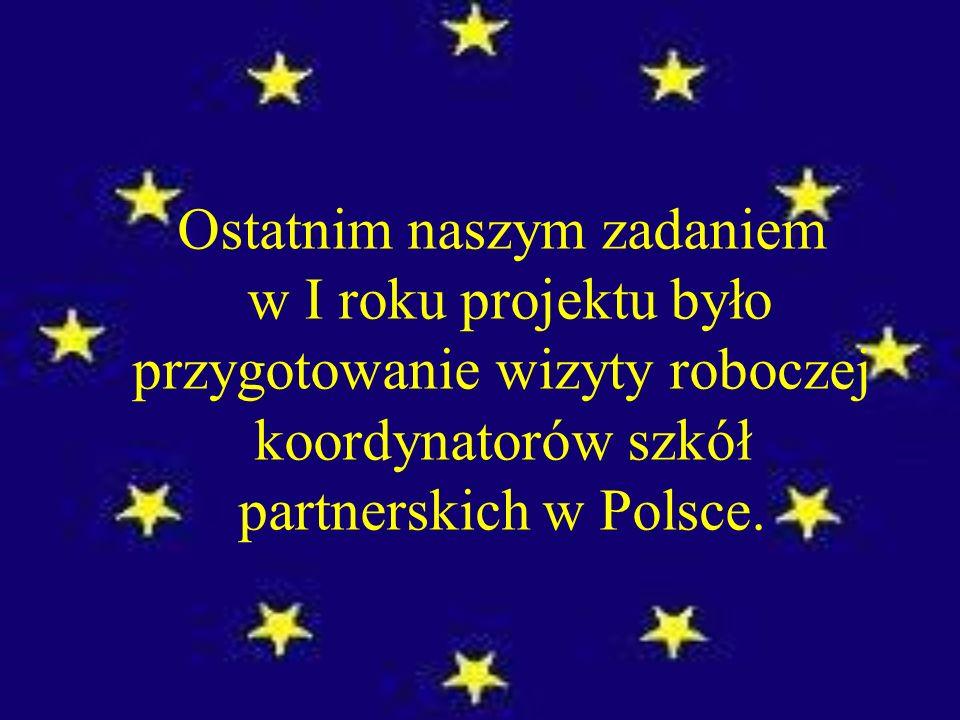 Ostatnim naszym zadaniem w I roku projektu było przygotowanie wizyty roboczej koordynatorów szkół partnerskich w Polsce.